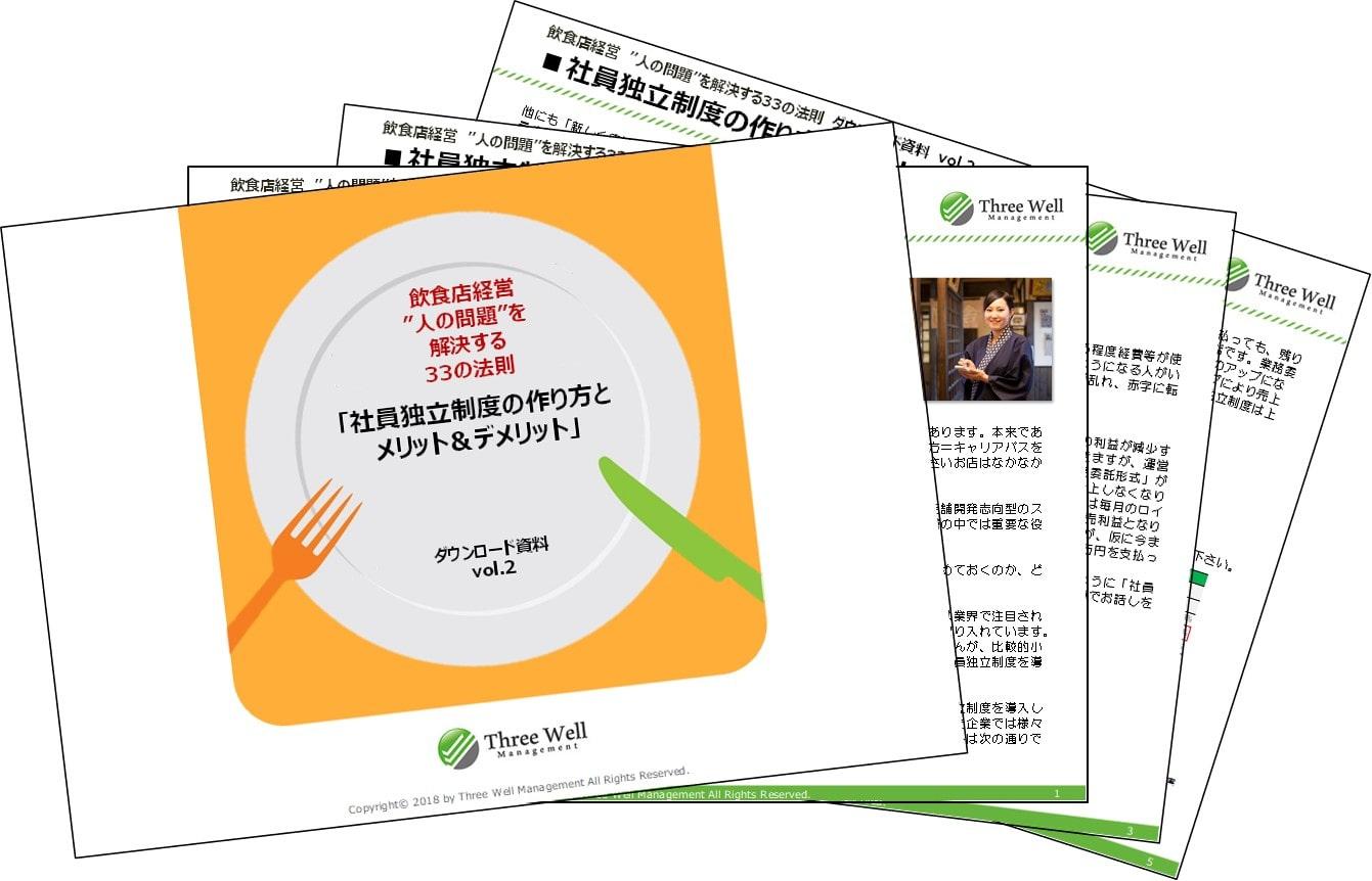 【ダウンロード資料】飲食店の社員独立制度の作り方